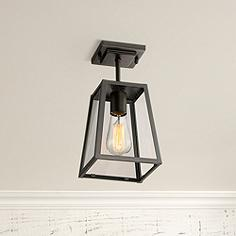 Outdoor flush mount lighting fixtures for patio or porch lamps arrington 6 wide mystic black outdoor ceiling light aloadofball Images