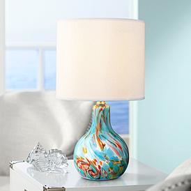 Blue Glass Table Lamps Lamps Plus