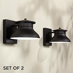 Led outdoor lighting exterior led light fixtures lamps plus set of 2 danbury led black 5 workwithnaturefo