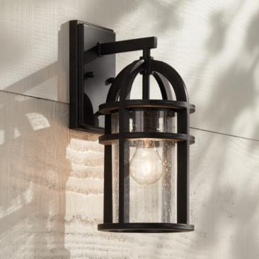 "Barrington 14 1/2"" High Bronze Outdoor Wall Light"