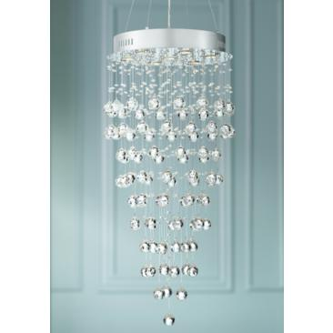 "Aida 18"" Wide Pouring Crystal Chandelier"