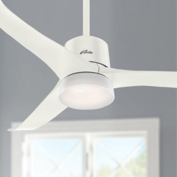 "54"" Hunter Symphony Fresh White LED Ceiling Fan"