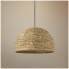 Jamie young company transitional pendant lighting lamps plus jamie young shoreline 22w natural sea grass pendant light aloadofball Image collections