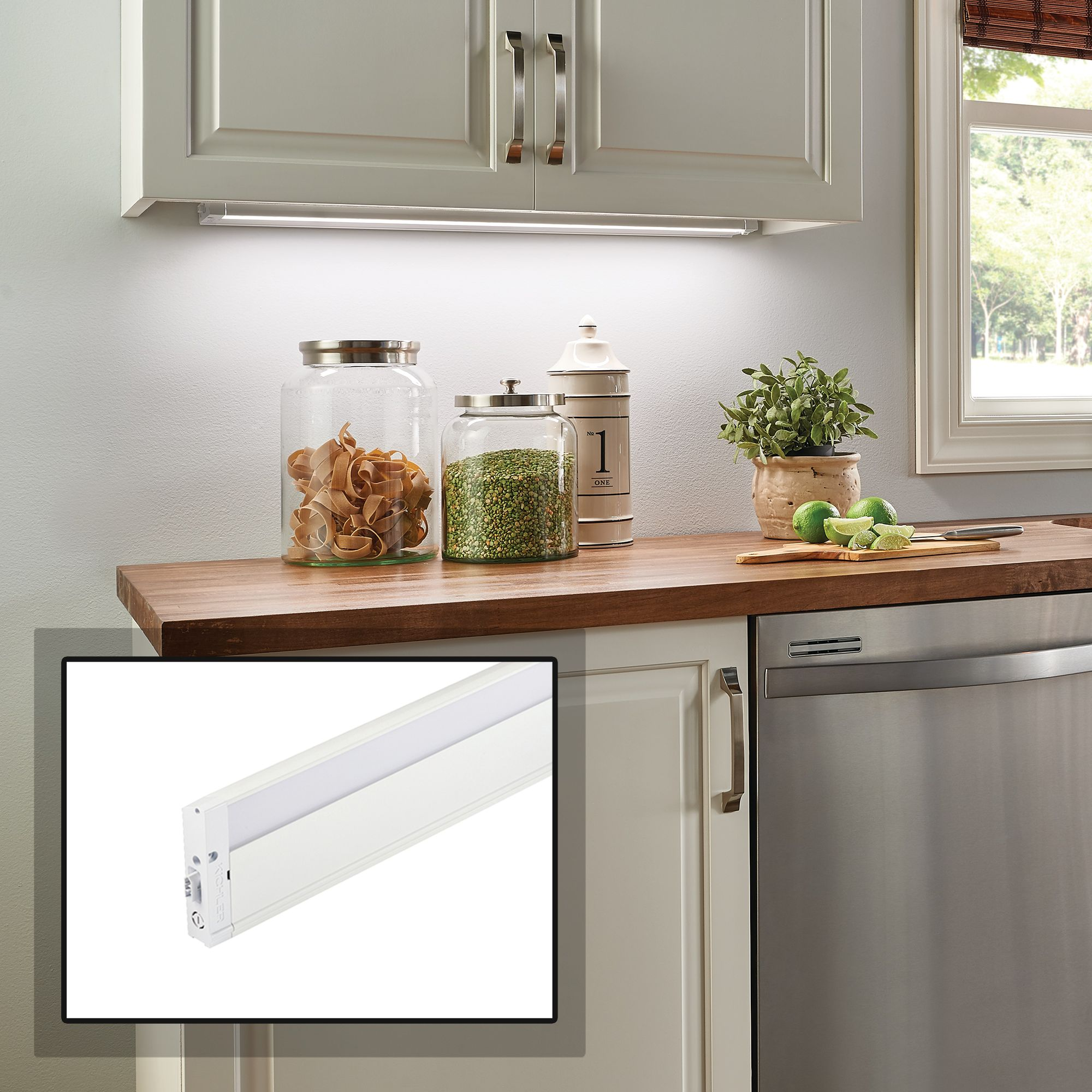 Kichler 4U Textured White 30. Kichler 4U Textured White 30  Wide LED Under Cabinet Light & Kichler Led Line Voltage 120V Under Cabinet Lights | Lamps Plus