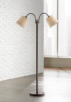 Bronze, Task - Reading, Floor Lamps | Lamps Plus