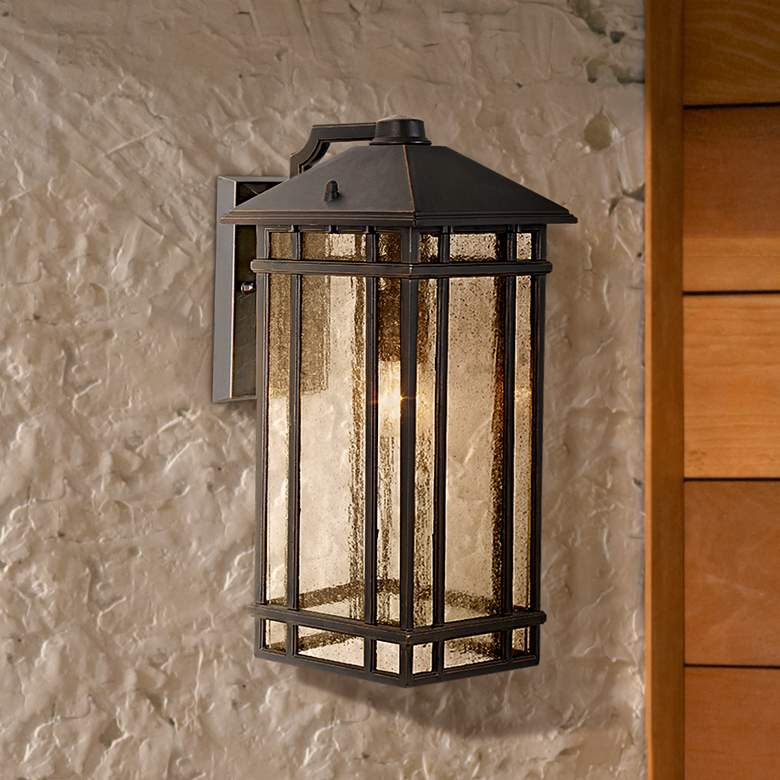 "J du J Sierra Craftsman 16 1/2"" High Outdoor Wall Light"