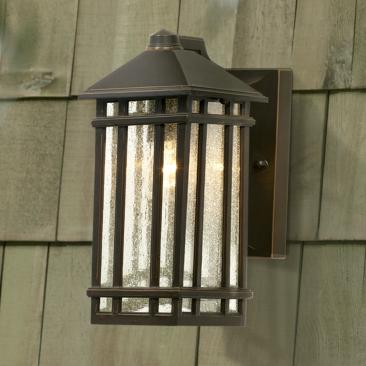 "J du J Sierra Craftsman 10"" High Bronze Outdoor Wall Light"
