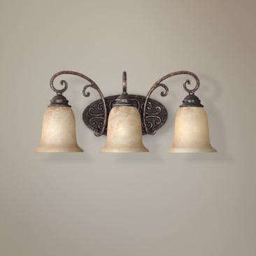 "Amherst Collection Burnt Umber 22"" Wide Bathroom Wall Light"