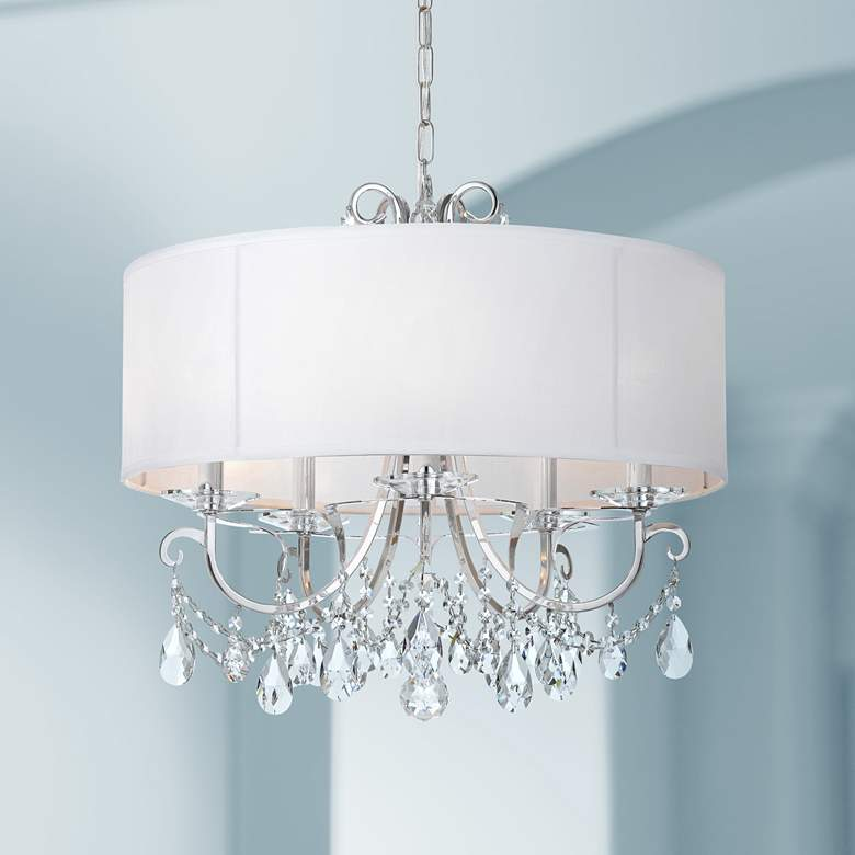 "Crystorama Othello 24""W Chrome 5-Light Crystal Chandelier"