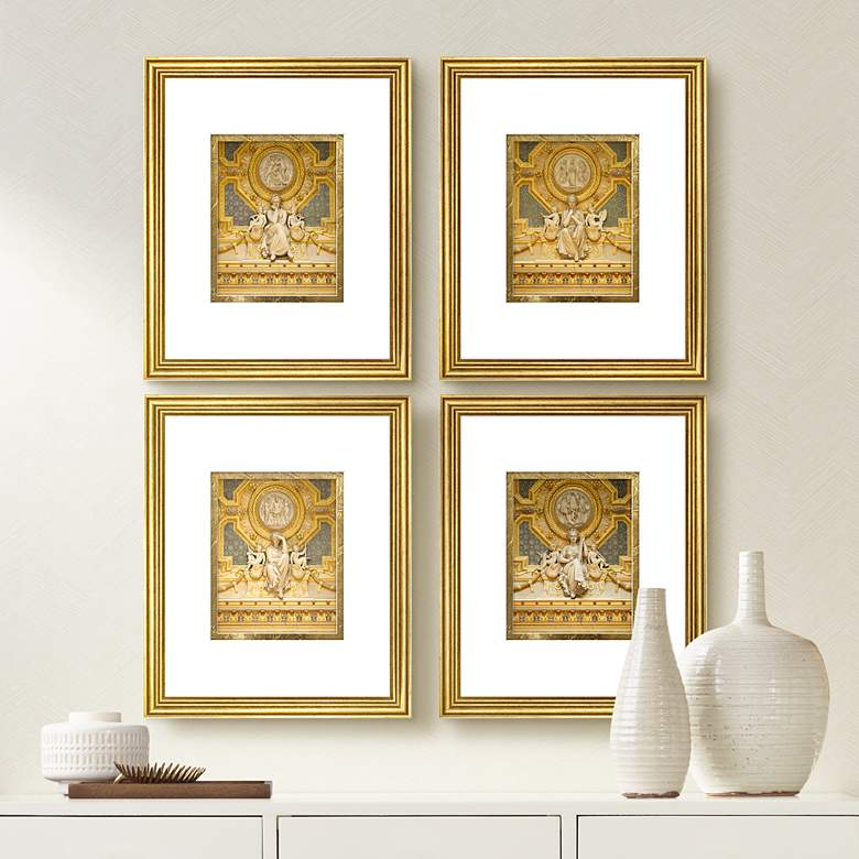 "Golden Expressions 22"" High 4-Piece Framed Wall Art Set"