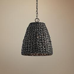 "Palisades 13 1/4""W Bronze and Chestnut Outdoor Pendant Light"