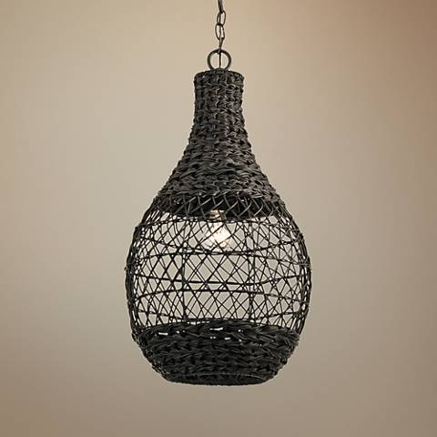 "Palisades 14 1/4""W Bronze and Chestnut Outdoor Pendant Light"