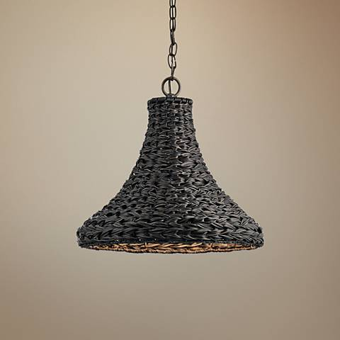 "Palisades 16"" Wide Bronze and Chestnut Outdoor Pendant Light"