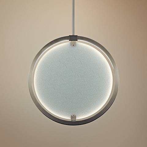 "Elan Core 20 1/4"" Wide Brushed Nickel LED Pendant Light"