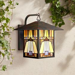 "Quoizel Inglenook 14"" High Valiant Bronze Outdoor Wall Light"
