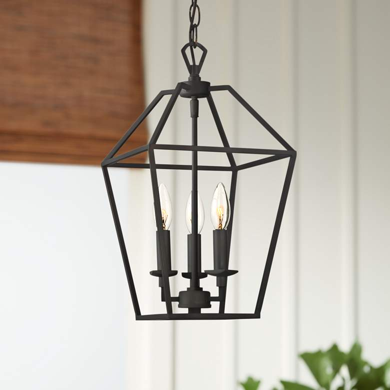 "Quoizel Aviary 9 1/2""W Bronze 3-Light Steel Cage"