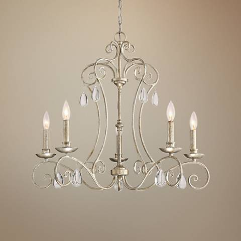 "Quoizel Chantelle 20 1/2""W Vintage Gold 5-Light Chandelier"