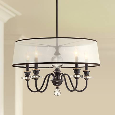 "Quoizel Ceremony 25""W Palladian Bronze 5-Light Chandelier"