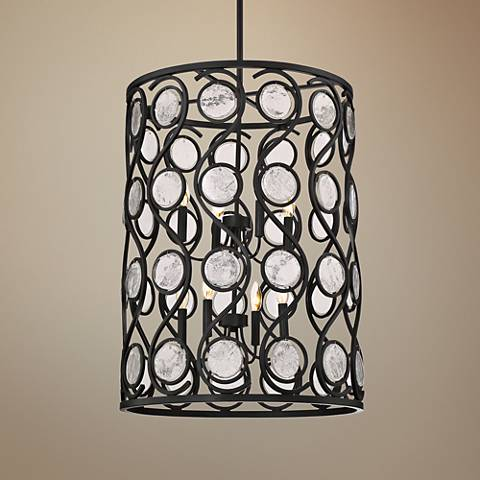 "Quoizel Jubilee 22""W Mystic Black 8-Light Foyer Chandelier"