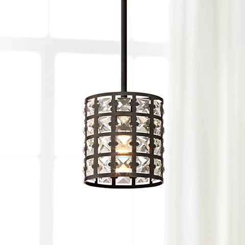 "Quoizel Luxury 6 1/2"" Wide Bronze Laser-Cut Mini Pendant"