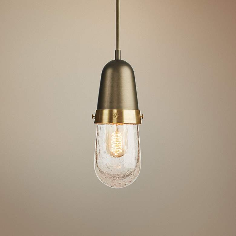 "Hubbardton Forge Fizz 4"" Wide Dark Smoke Mini Pendant"