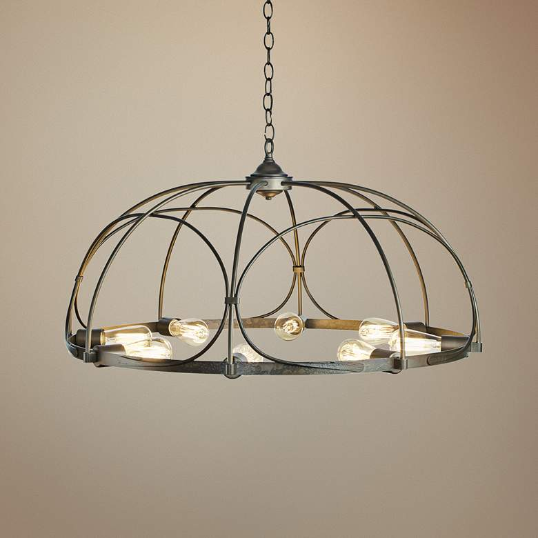 "Hubbardton Forge Arbor 35 1/2"" Wide 8-Light Smoke"