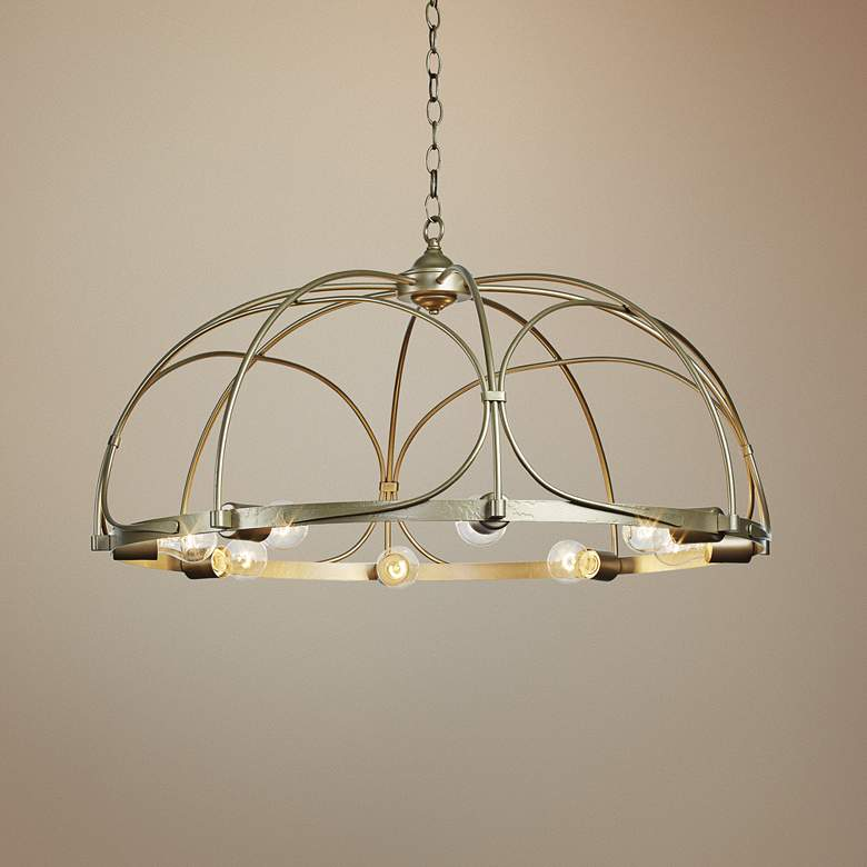 "Hubbardton Forge Arbor 35 1/2"" Wide 8-Light Gold"