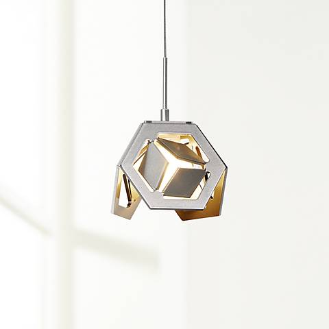 "Hubbardton Forge Winter 4""W Vintage Platinum Mini Pendant"