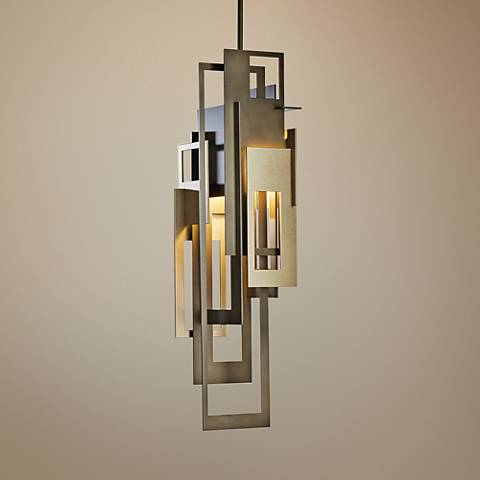 "Hubbardton Forge Collage 6 1/2"" Wide Bronze Mini Pendant"