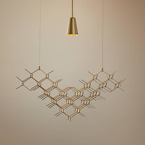 "Vermont Modern Hive 31 1/4"" Wide Gold Pendant Light"