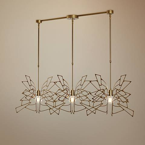 "Vermont Modern Monarch 57 3/4"" Wide 3-Light Gold Pendant"