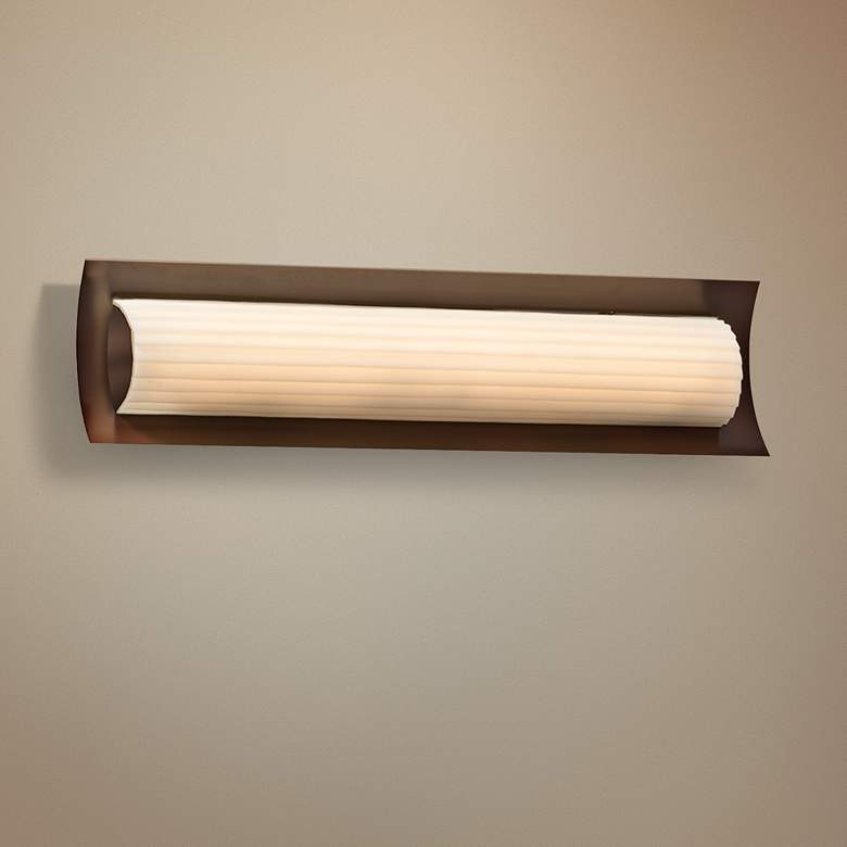 "Porcelina™ Lineate 21 1/2""W Dark Bronze LED Bath Light"