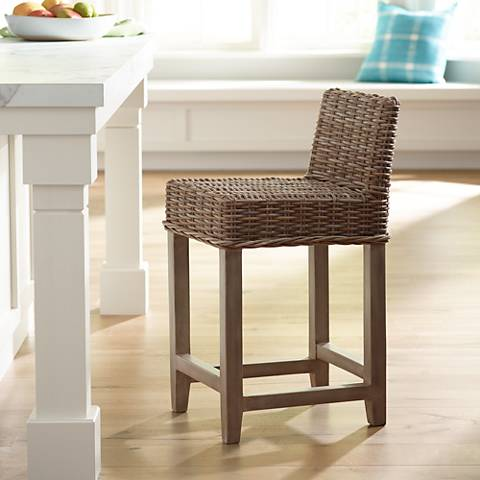 "Baxter 24"" White glaze Counter Stool"