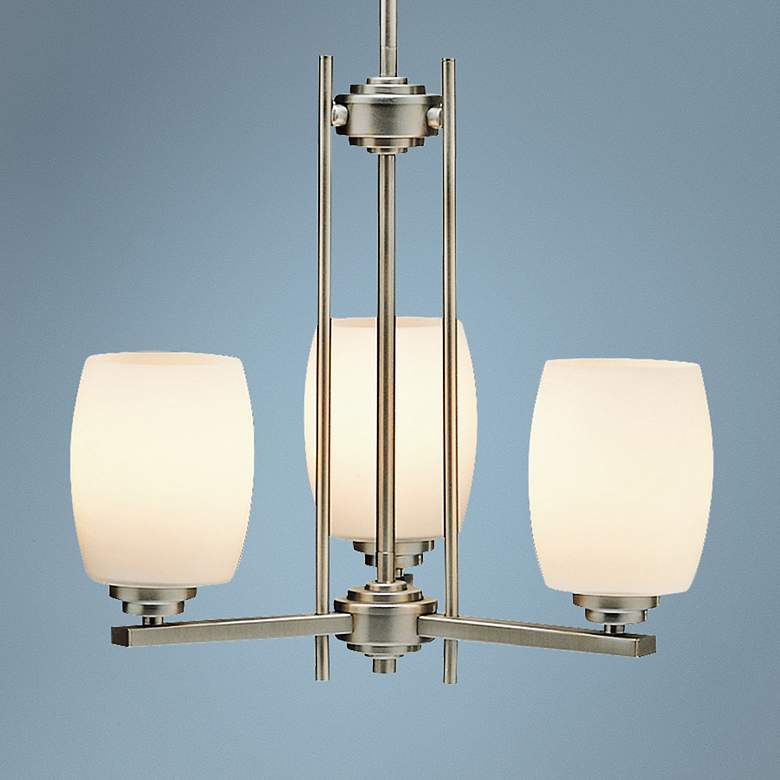 "Kichler Sabina Nickel 18 1/2""W 3-Light Up-Down Chandelier"