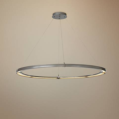 "Aria Large 62 3/4"" Wide Vintage Platinum LED Pendant Light"