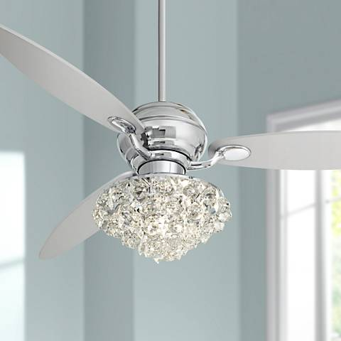 "60"" Spyder™ Polished Chrome Ceiling Fan with Control"