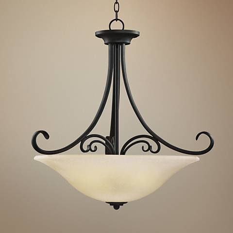 "Del Prato 26"" Wide 4-Light Chestnut Bronze Pendant"