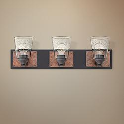 "Hinkley Jackson 24"" Wide Buckeye Bronze 3-Light Bath Light"