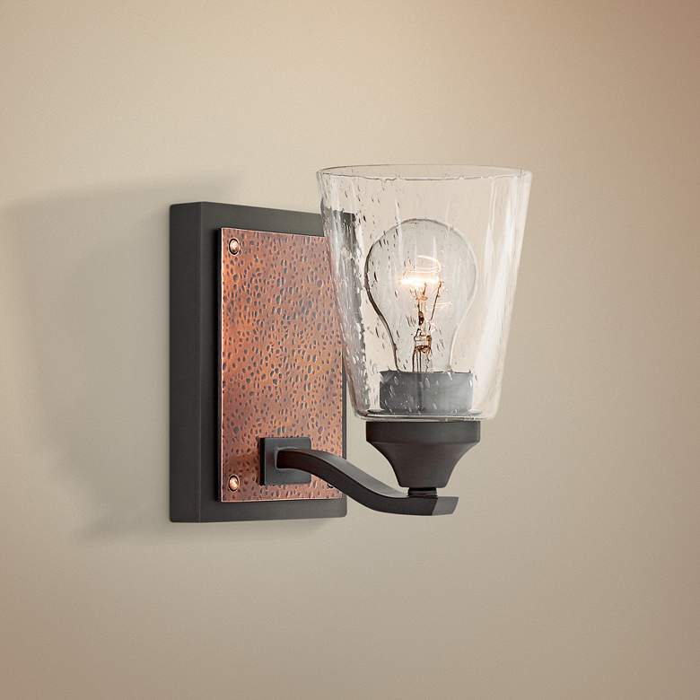 "Hinkley Jackson 7 1/4"" High Buckeye Bronze Wall Sconce"