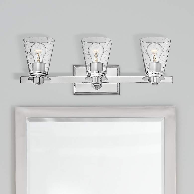 "Hinkley Avon 23"" Wide Chrome 3-Light Bath Light"