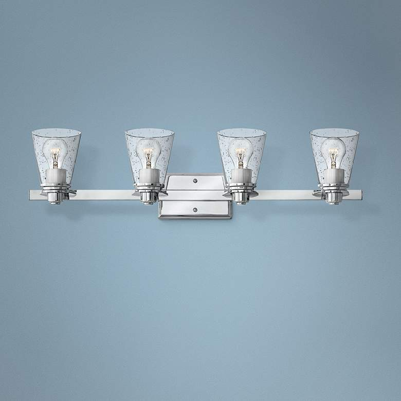 "Hinkley Avon 31 3/4"" Wide Chrome 4-Light Bath"