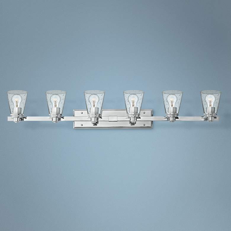 "Hinkley Avon 48"" Wide Chrome 6-Light Bath Light"