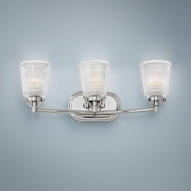 "Hinkley Bennett 24 1/4""W Polished Nickel 3-Light Bath"