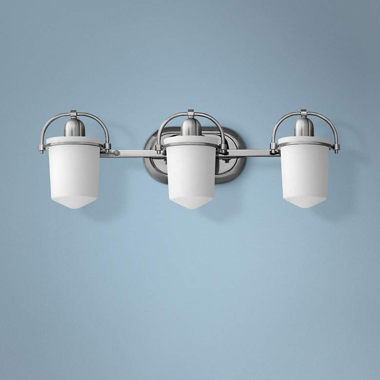 "Hinkley Clancy 25"" Wide Brushed Nickel 3-Light Bath"
