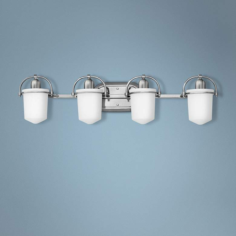 "Hinkley Clancy 32 3/4""W Brushed Nickel 4-Light Bath"