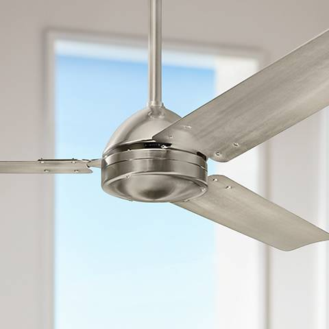"56"" Kichler Todo™ Brushed Stainless Steel Ceiling Fan"