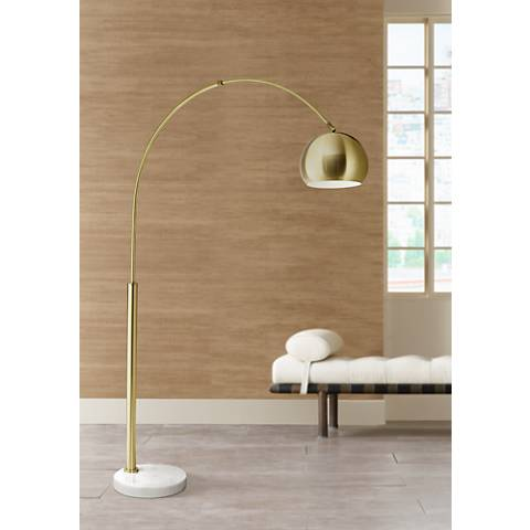 Basque arc floor lamp gold 21h39 lamps plus basque arc floor lamp gold aloadofball Gallery