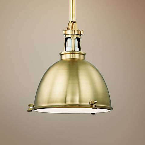 "Hudson Valley Massena 19 1/2"" Wide Aged Brass Pendant Light"