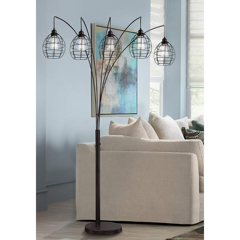 Lite Source Kaden Copper Bronze Cage 5-Light Arc