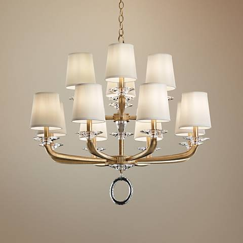 "Schonbek Emilea 33 1/2"" Wide French Gold 12-Light Chandelier"